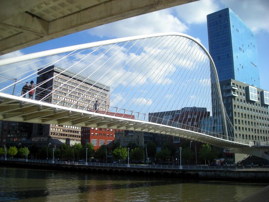 Santiago Calatrava, uvek elegantan u rešenjima mostova, nije propustio da u Bilbaou napravi još jednu spektakularnu tvorevinu.