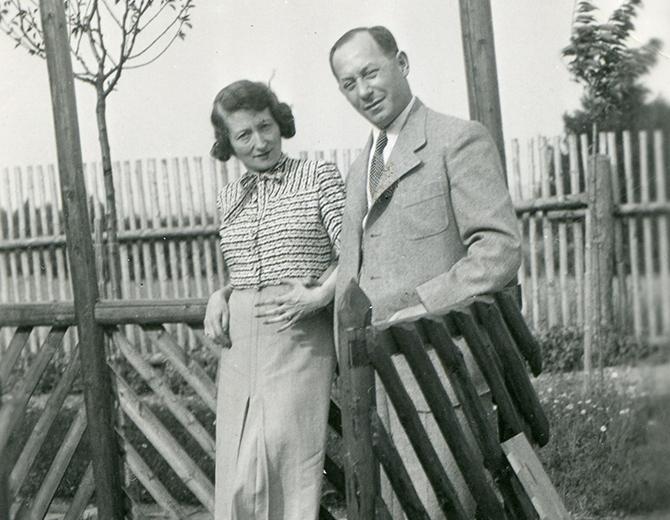 Paul i Hedi Strnad, snimljeni pre rata u Pragu