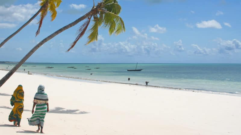 NUMBER OF TOURISTS DOUBLED IN JUST ONE YEAR: A Zanzibar beach