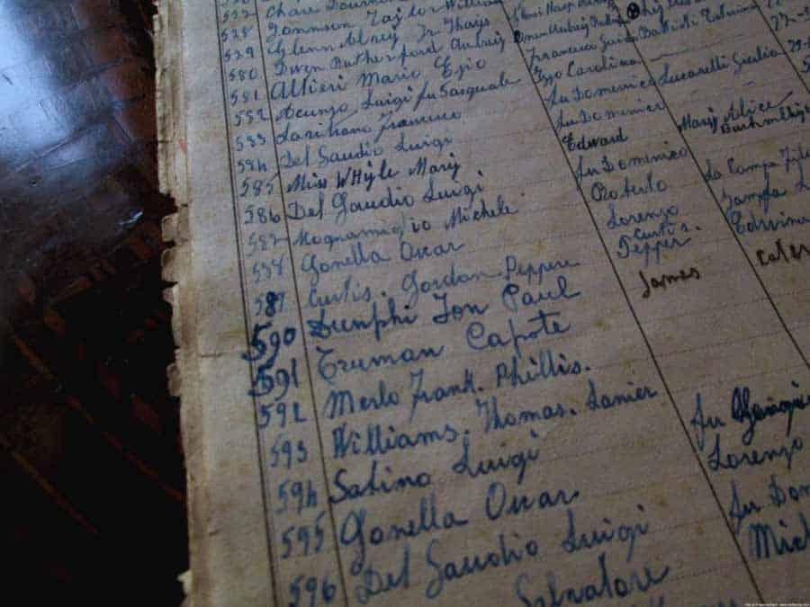 Izvod iz Knjige gostiju: Truman Kapote, Tenesi Vilijams...