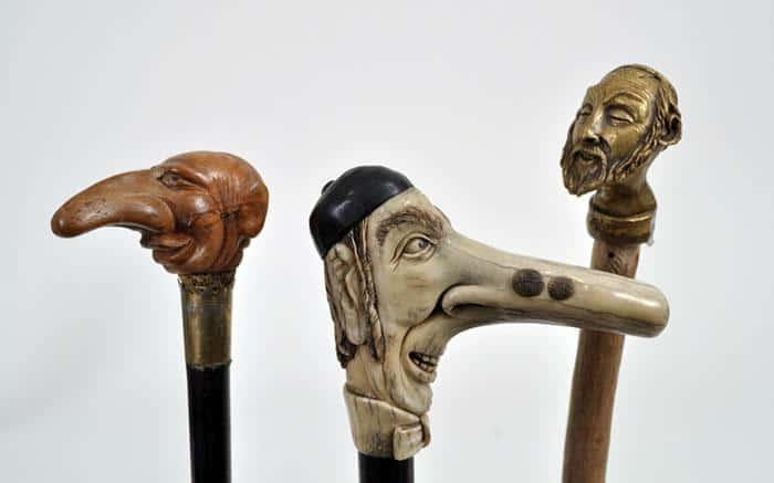 """Štapovi sa drškom u obliku """"jevrejskog nosa"""": Deo kolekcije Martina Šlafa"""