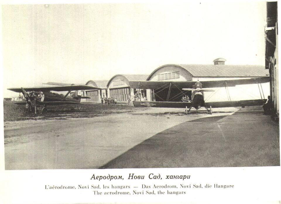Aerodrom Jugovićevo, hangari, 1928.