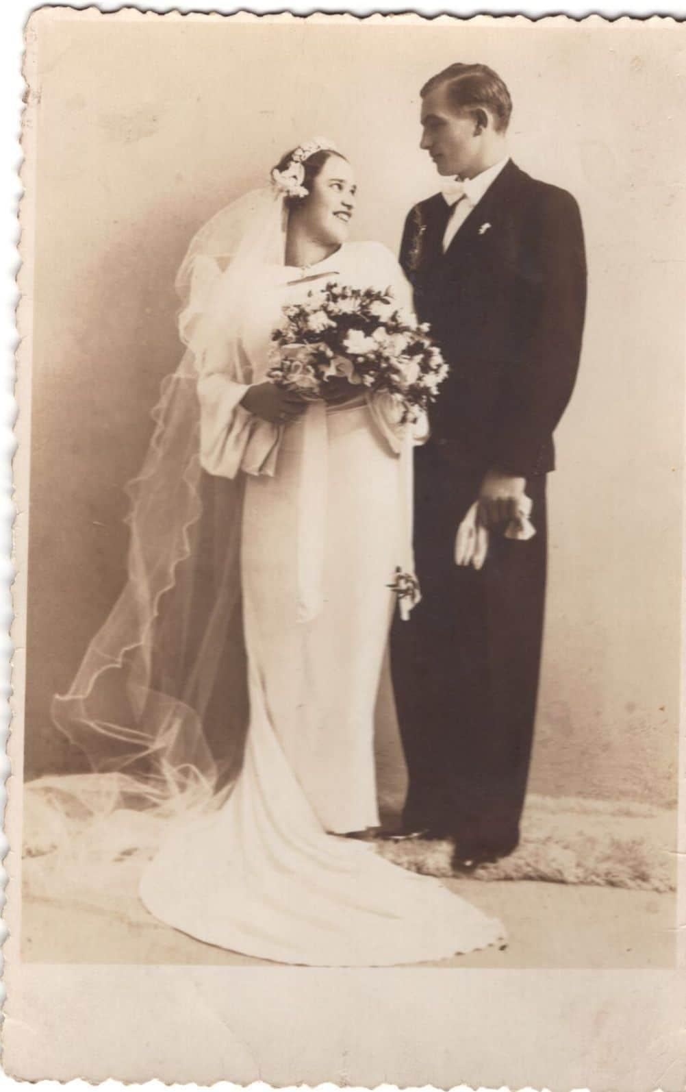 Ester i Aleksandar Bajer na venčanju