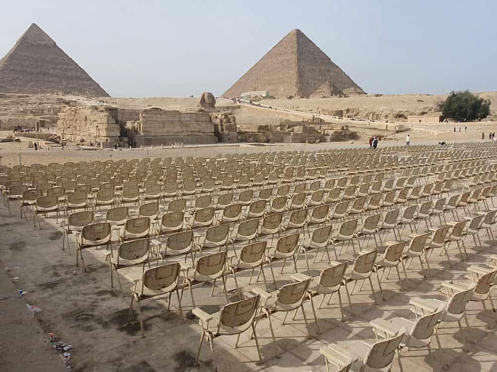 """JOŠ UVEK BEZ """"AIDE"""": Auditorijum ispred Sfinge i piramida u Gizi"""