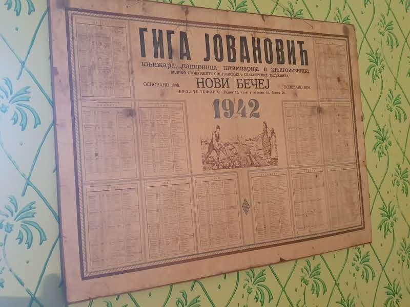 Kalendar Gige Jovanovića za 1942.