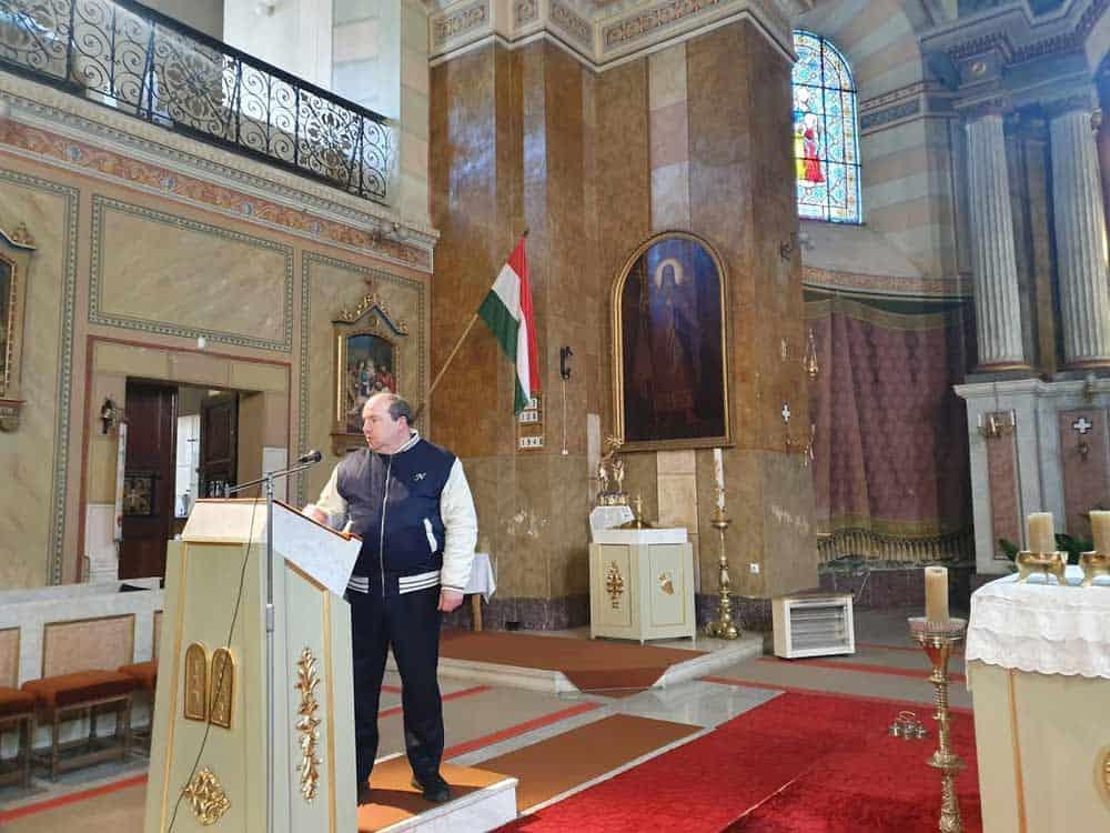 HRAM IZ 1830: Sveštenik Laslo Fuderer u Crkvi Uznesenja Marijinog