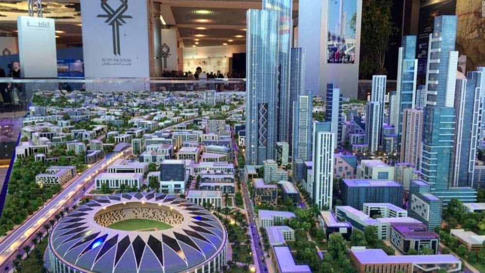 """GRAD OD 45 MILIJARDI DOLARA: Maketa """"Novog Kaira"""" čije je otvaranje predviđeno za 2022."""
