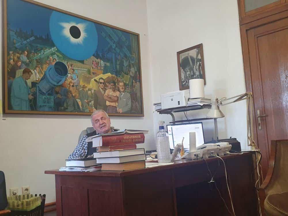 Crnogorac sa mađarskim akcentom: Upravnik Gojko Đurašević u svom kabinetu