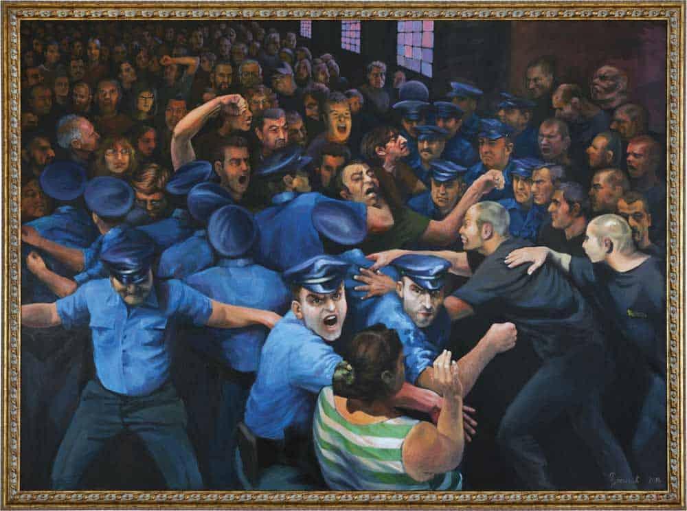"""""""JUGOREMEDIJA"""" (2010): Slika Milice Ružičić nalazi se u stalnoj postavci Muzeja savremene umetnosti u Beogradu"""