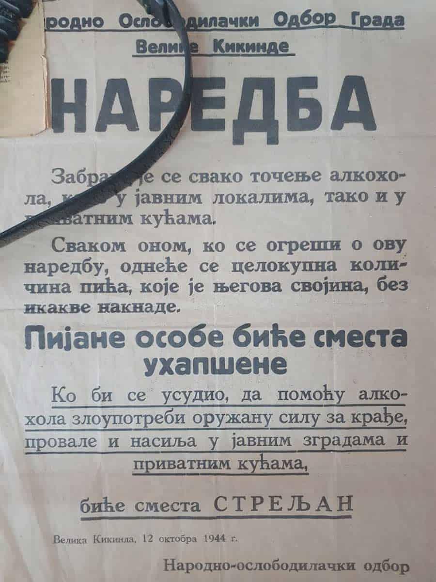 Nema šale sa oslobodiocima: Banatska prohibicija iz 1944.