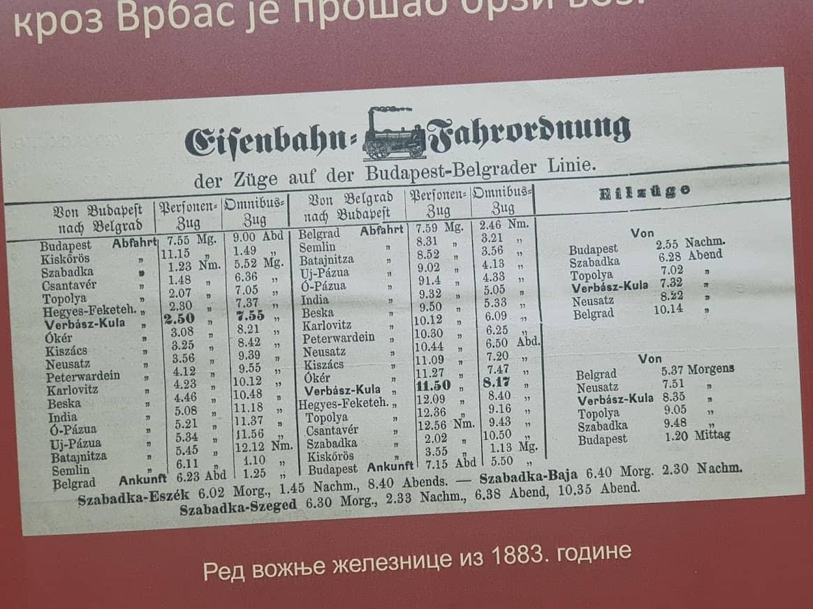 Vozni red iz 1883: Bez promene 138 godina kasnije