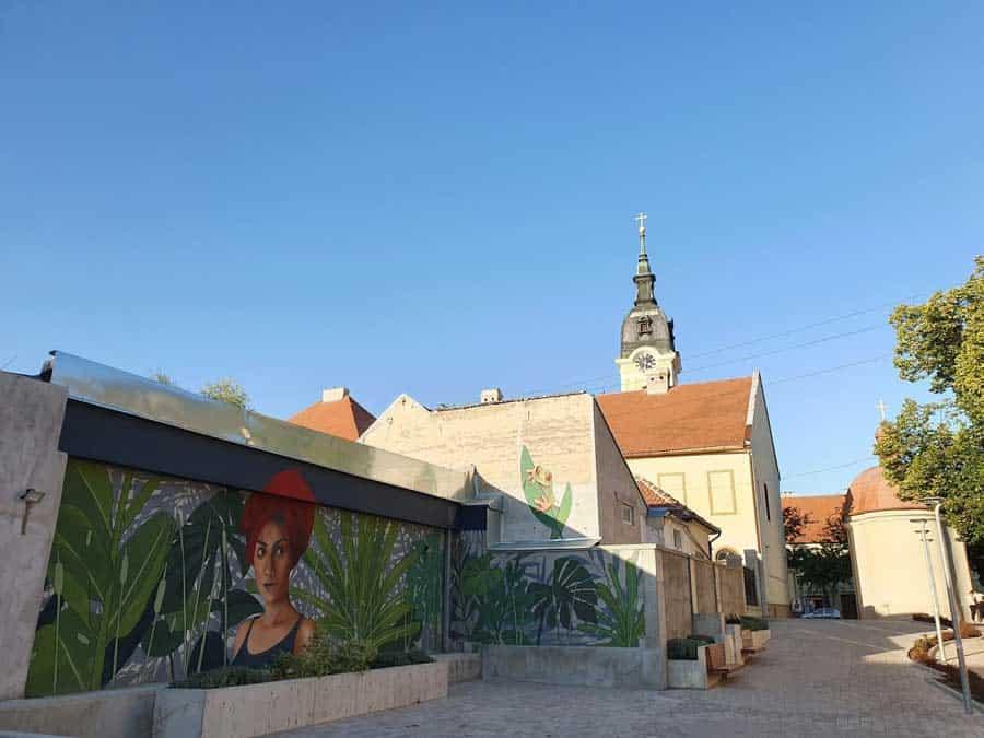 21. vek: Mural u centru Sombora