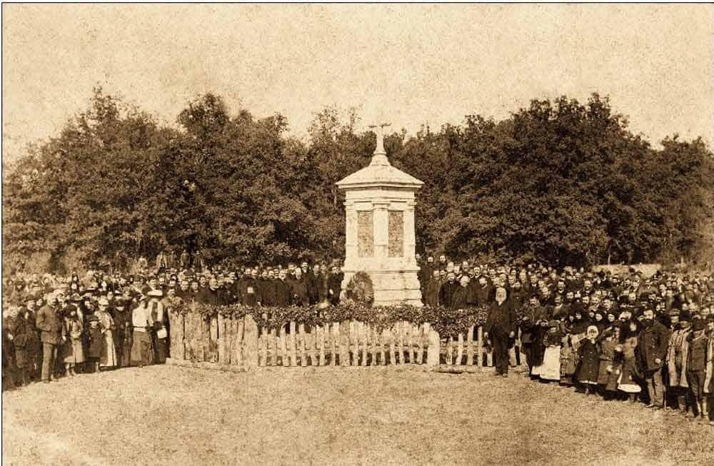 POSVEĆEN PRINCU RUDOLFU: Posvećenje obeliska 2. novembra 1891.