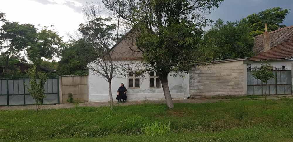 Baka pred kućom: Prizor iz Masarikove ulice u Gložanu