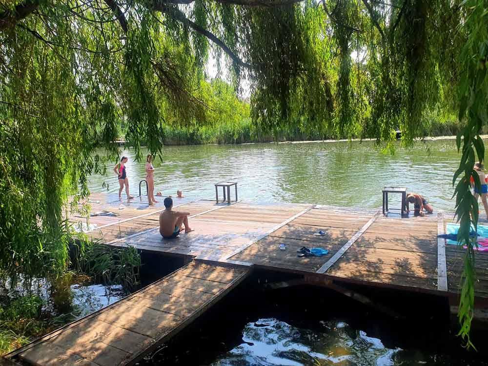 KAO DA JE SLIKAO ŽORŽ SERA: Kupanje na Bajskom kanalu u Bezdanu