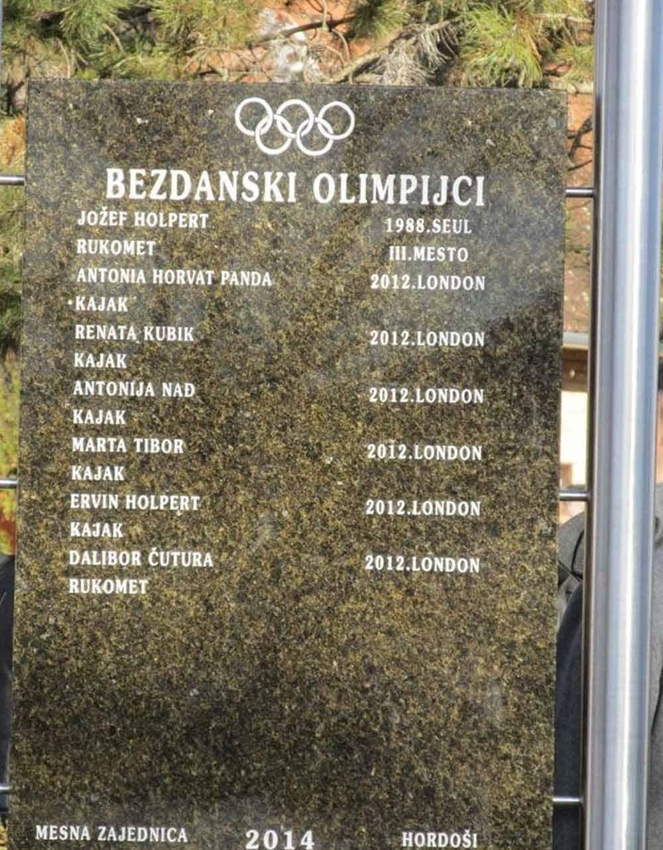 PONOS SELA: Tabla sa imenima bezdanskih olimpijaca
